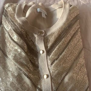Sequin sweater in gold